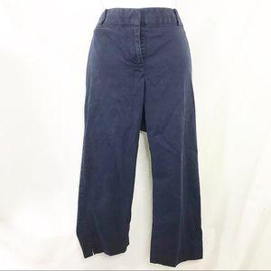 Talbots Blue Signature Cropped Pants Sz 14P